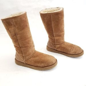 UGG Suede Shearling Winter Boots Style 5815 Size 9